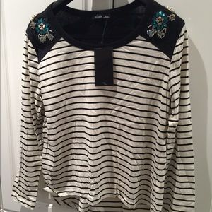 Zara Embellished Ladies Top Size L New With Tag